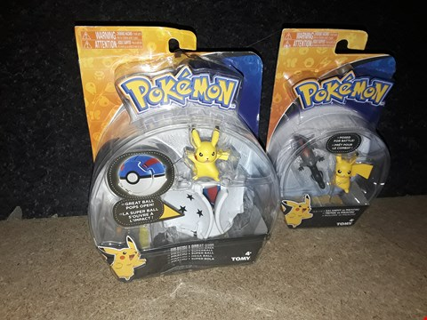 Lot 3075 LOT OF 2 POKEMON PIKACHU FIGURES