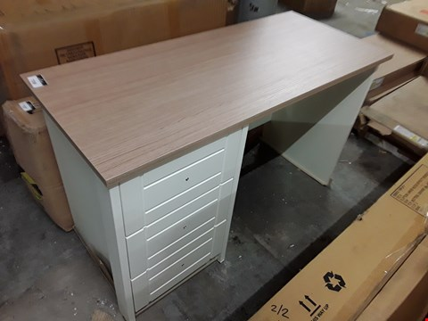 Lot 7308 PAINTED WHITE WITH WOODEN TOP 3-DRAWER DESK