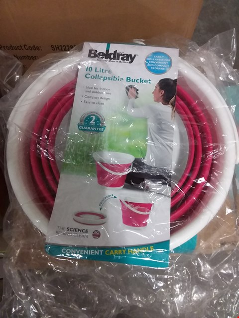 Lot 663 BOX OF 12 BELDRAY 10L COLLAPSIBLE BUCKETS