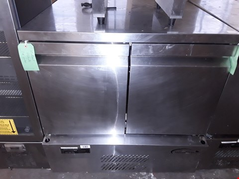Lot 69 COMMERCIAL STAINLESS STEEL WILLIAMS 2 DOOR UNDER COUNTER FRIDGE