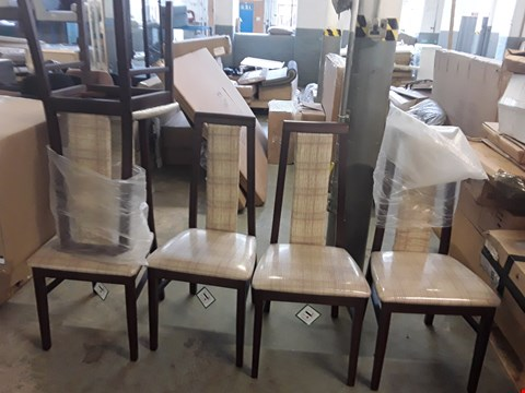 Lot 255 LOT OF 5 BRAND NEW CAXTON FURNITURE PART PADDED BACK MAHOGANY DINING CHAIRS