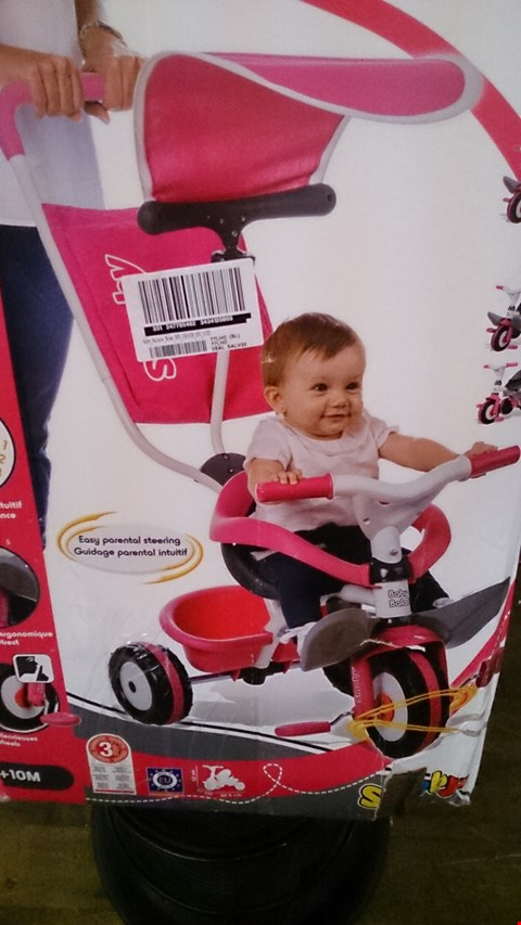 Lot 2342 BOXED BABY BALADE ROSE TRYCICLE FOR 10 MONTHS BY SMOBY RRP £100.00