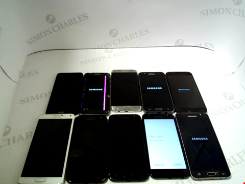 Lot 3367 LOT OF 10 ASSORTED SMARTPHONES; VARIOUS MAKES AND GRADES