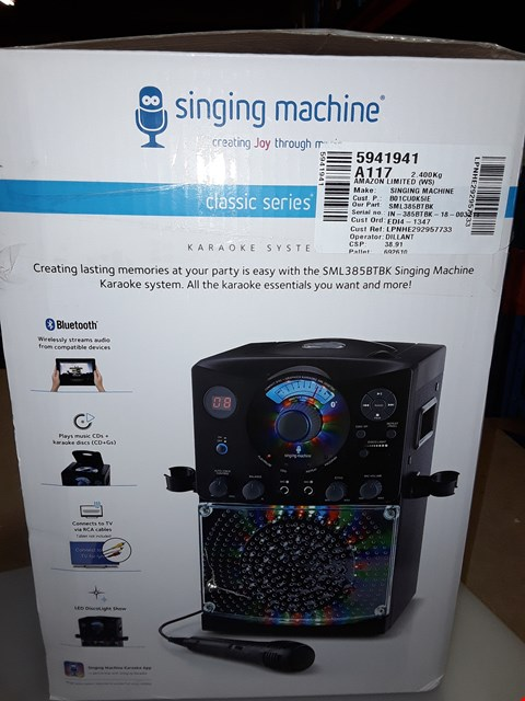 Lot 273 SINGING MACHINE SML385BTBK