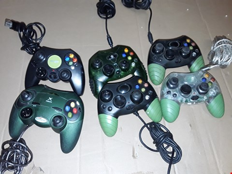 Lot 170 LOT OF 6 ASSORTED XBOX CONTROLLRRS
