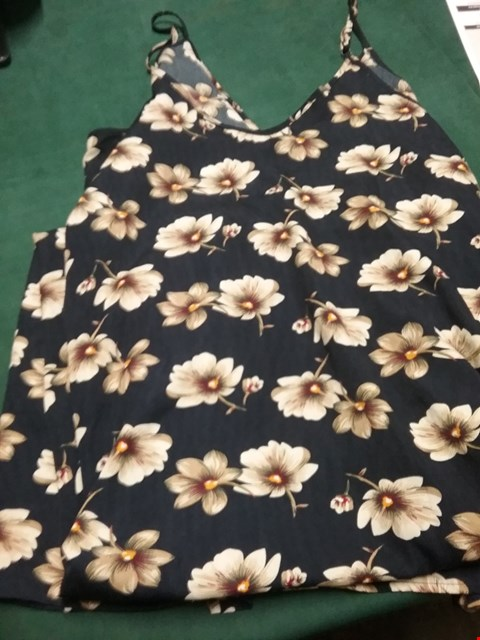 Lot 51 UNBRANDED LONG NAVY FLORAL STRAPPY DRESS SIZE L