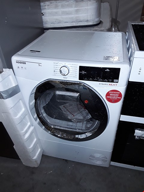 Lot 10034 HOOVER DYNAMIC NEXT DXC9TCE 9KG LOAD, AQUAVISION CONDENSER TUMBLE DRYER WITH ONE TOUCH - WHITE/CHROME