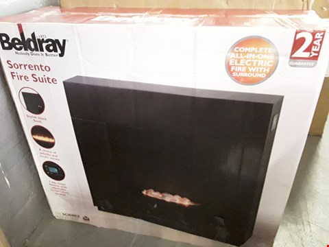Lot 142 BOXED BELDRAY SORRENTO ELECTRIC FIRE SUITE