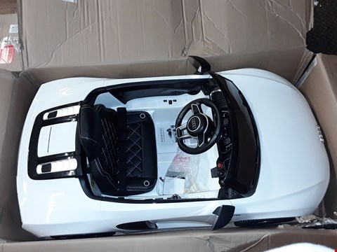 Lot 1007 AUDI R8 BATTERY OPERATED RIDE-ON CAR - WHITE RRP £250