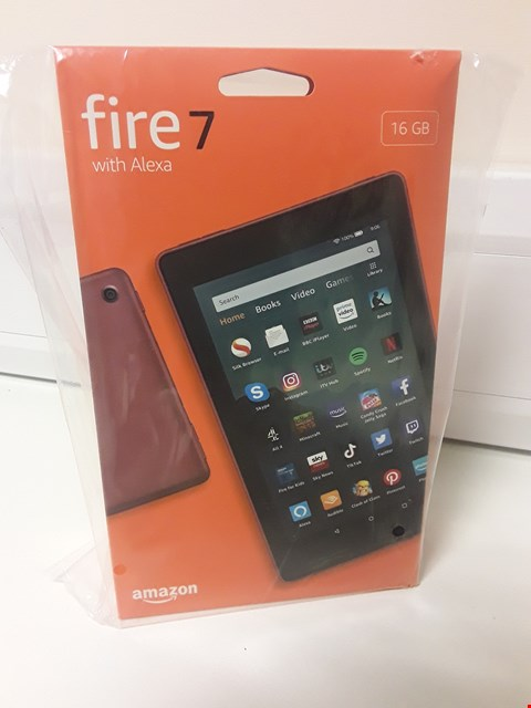 Lot 4555 AMAZON FIRE 7 TABLET 16 Gb  WITH ALEXA (SEALED)