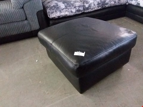 Lot 39 DESIGNER NAPOLI BLACK LEATHER FOOTSTOOL