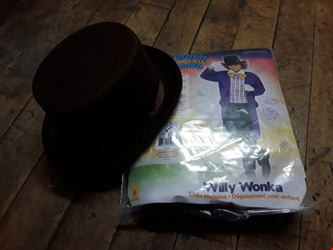 Lot 1759 GRADE 1 CHILDS WILLY WONKA COSTUME RRP £29.99