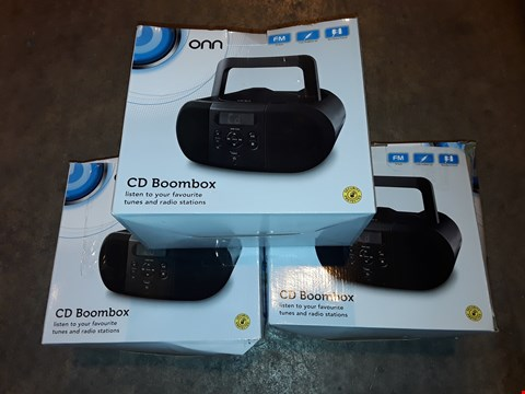 Lot 4630 LOT OF 3 ONN CD BOOMBOXES
