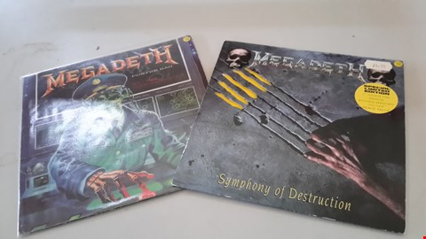 "Lot 9077 LOT OF 2 MEGADETH 7"" SINGLES"