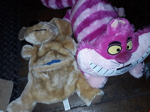 Lot 6044 ALICE IN WONDERLAND CHESHIRE CAT AND DOG HOT WATER BOTTLE HOLDER