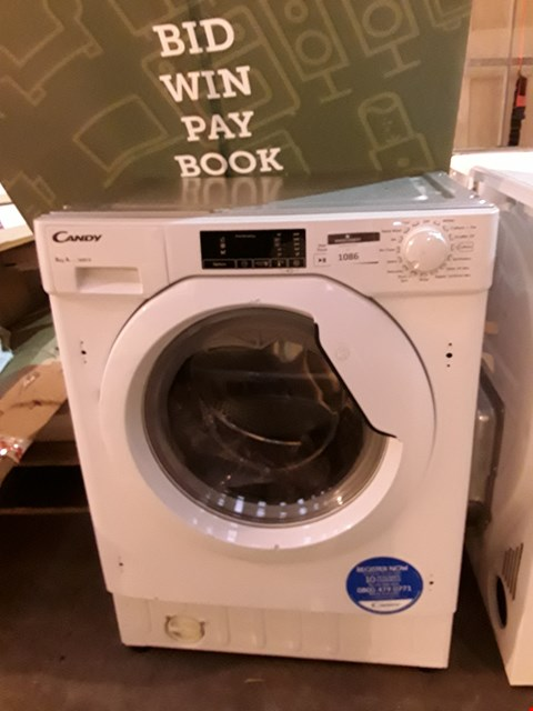 Lot 1086 CANDY WHITE INTEGRATED 8Kg WASHING MACHINE