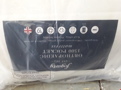 Lot 41 QUALITY BAGGED FOGARTY ORTHOPAEDIC 1500 POCKET 135CM DOUBLE MATTRESS