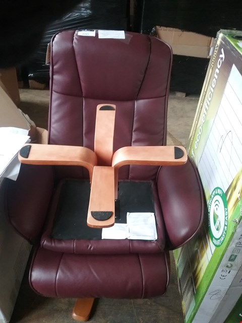 Lot 181 MONACO SWIVEL RECLINER AND STOOL