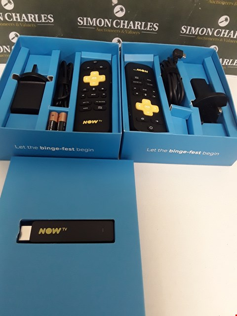 Lot 227 TWO BOXED NOW TV SMART STICKS