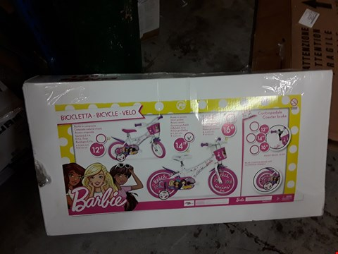 "Lot 898 GRADE 1 BARBIE 14"" BIKE RRP £160"