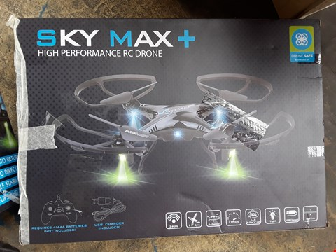 Lot 939 BOXED SKY MAX PLUS DRONE WITH STORAGE BAG