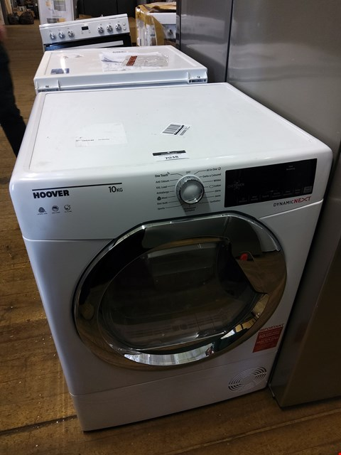 Lot 7038 HOOVER DYNAMIC NEXT DX10TCE 10KG LOAD AQUAVISION CONDENSER TUMBLE DRYER
