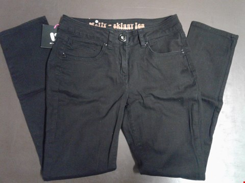 Lot 96 SOUTH DENIM MOLLY SKINNY LEG BLACK JEANS SIZE 10