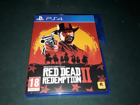 Lot 2286 RED DEAD REDEMPTION 2 FOR PS4 RRP £69.99