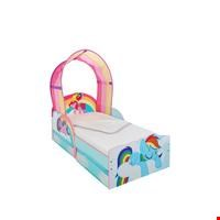 Lot 79 LOT OF TWO ASSORTED ITEMS TO INCLUDE MY LITTLE PONY TODDLER BED AND A TRAMPOLINE LADDER