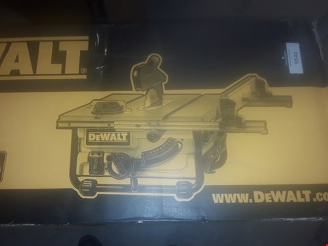 Lot 9544 DEWALT DW745 240 VOLT 1850 WATT 250MM PORTABLE SITE SAW
