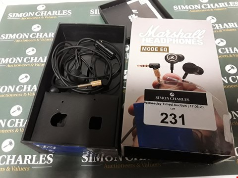 Lot 594 MARSHALL MODE EQ HEADPHONES