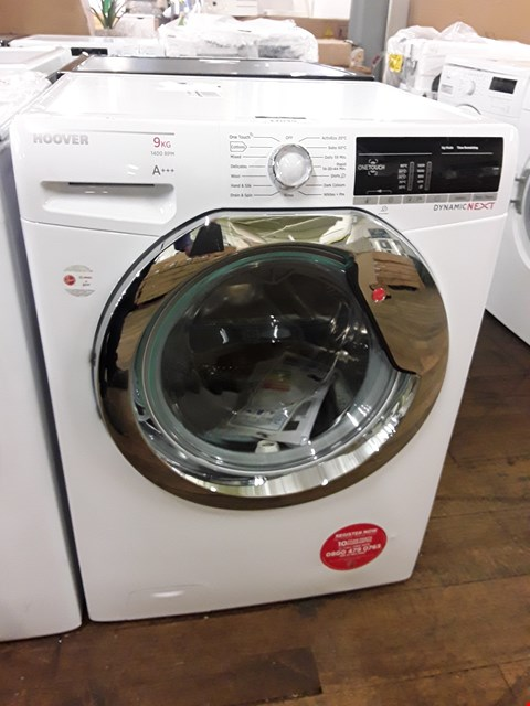 Lot 12039 HOOVER DX0AR49C3 1400 SPIN WASHING MACHINE IN WHITE/CHROME