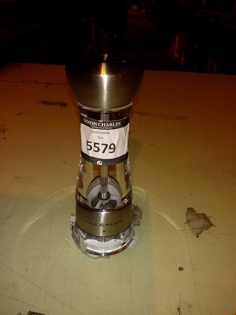 Lot 5579 COLE & MASON GOURMET PRECISION WINDERMERE SALT MILL, STAINLESS STEEL AND ACRYLIC 16.5 CM