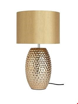 Lot 29 MARLEE TABLE LAMP GOLD RRP £94