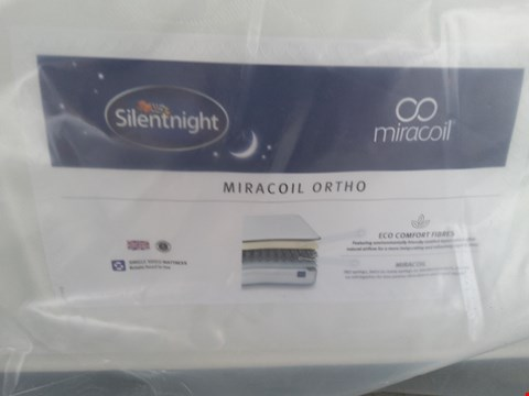 Lot 23 QUALITY BAGGED SILENTNIGHT MIRACOIL ORTHO 5FT MATTRESS
