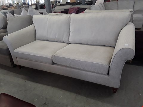 Lot 90 QUALITY BRITISH DESIGNER SOMERSET NATURAL FABRIC THREE SEATER SOFA