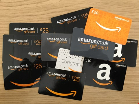 Lot 20 12 AMAZON GIFT CARD.  TOTAL VALUE £240
