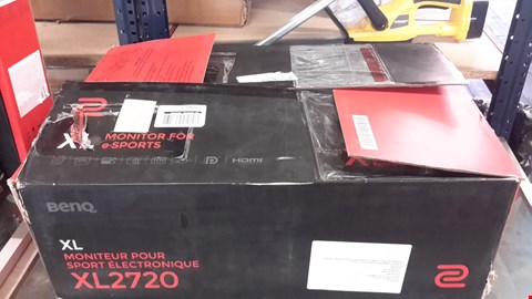 Lot 16  BENQ ZOWIE XL2720 27IN FHD 1MS RESPONSE, 144HZ, ESPORTS GAMING MONITOR RRP £380