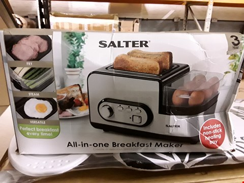 Lot 10080 2 ITEMS TO INCLUDE SALTER ALL IN ONE BREAKFAST MAKER AND PATIO HEATER