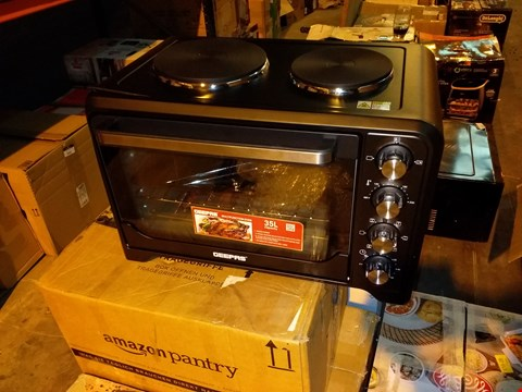 Lot 8110 GEEPAS 35L MINI OVEN & GRILL WITH DOUBLE HOTPLATE