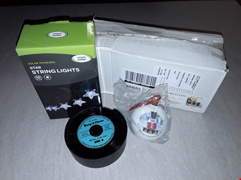 Lot 297 LOT OF 4 ASSORTED HOMEWARE ITEMS TO INCLUDE STAR STRING LIGHTS, MUSICOLOGY COASTERS AND SET OF 3 GLASS VASES RRP £63.00