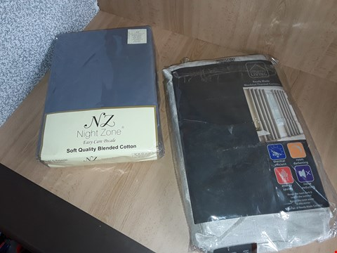 Lot 2560 LOT OF 2 ITEMS TO INCLUDE NIGHT ZONE BEDDING AND REAL MADE BLACKOUT THERMAL CURTAINS