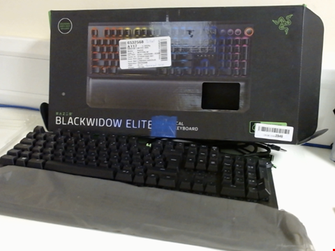 Lot 15167 RAZER BLACKWIDOW ELITE, MECHANICAL GAMING KEYBOARD WITH GREEN SWITCHES