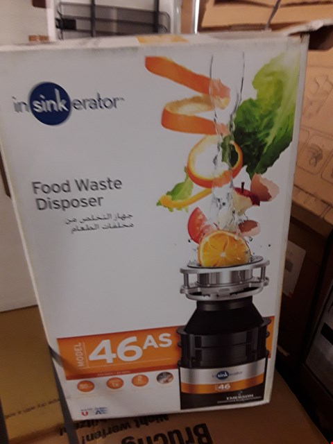Lot 1 BOXED INSINKERATOR FOOD WASTE DISPOSER