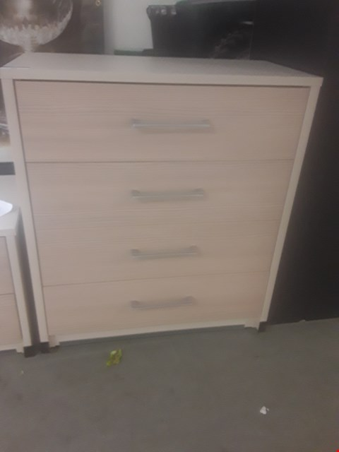Lot 86 DESIGNER AVOLA CHAMPAGNE 4 DRAWET CHEST RRP £169.99