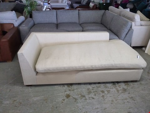 Lot 2010 SAND COLOURED FABRIC CHAISE SOFA SECTION
