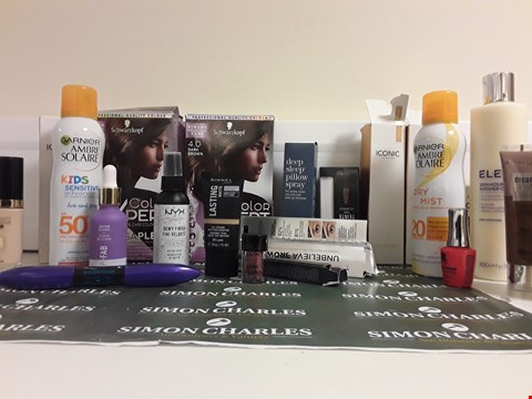 Lot 2221 BOX OF APPROXIMATELY 21 ASSORTED MAKE UP ITEMS TO INCLUDE NAIL VARNISH, FOUNDATION, BODY LOTION ETC