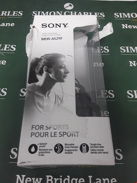 Lot 63 BOXED SONY MDR-AS210 STEREO HEADPHONES