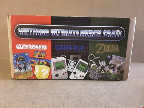 Lot 184 BOXED BRAND NEW NINTENDO ULTIMATE MERCH CRATE