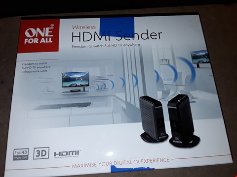Lot 4390 ONE FOR ALL WIRELESS HDMI SENDER – COMPATIBLE WITH ALL AV DEVICES WITH HDMI OUTPUTS - PLUG &PLAY – STREAMS FULL HD  – BLACK – SV1760